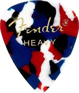 Fender - 351 Celluloid, Confetti, Heavy, 12 Pack