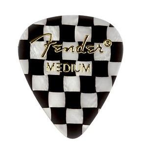 Fender - 351 Graphic Picks, Checker, Medium, 12 Pack