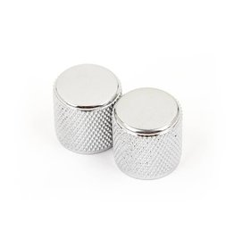 Fender - Tele/P-Bass Knobs, Knurled Chrome, 2 Pack