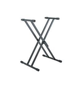 "K&M - Keyboard Stand Double-Braced X-Stand w/""Smart-Lock"""
