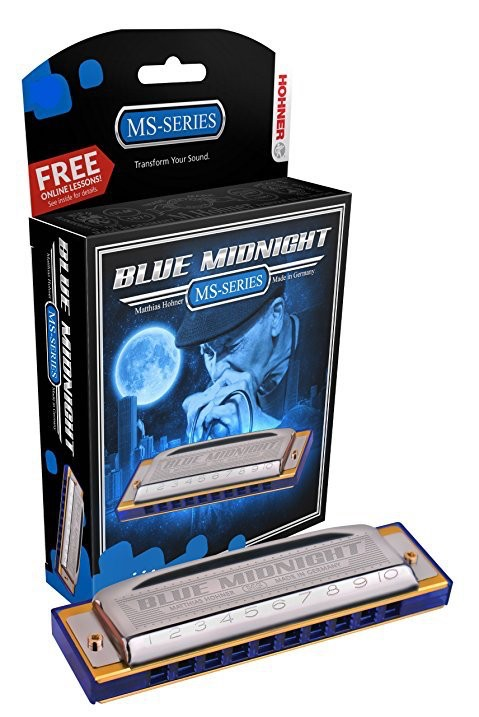 Hohner - 595BX Blue Midnight Harmonica, Bb