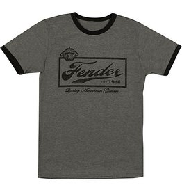 Fender - Black Beer Label T-Shirt, M