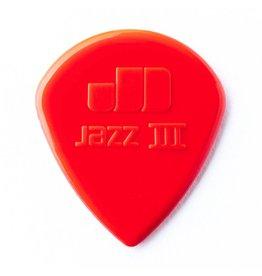 Jim Dunlop - Jazz III Guitar Pick, Red, 6 Pack