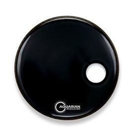 "Aquarian - Regulator Bass Drumhead Small Port, Black, 22"""