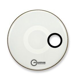 Aquarian - Regulator Bass Drumhead Small Port, White, 22""