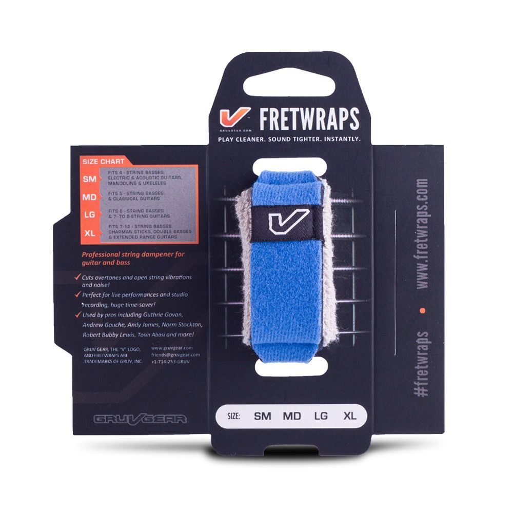 Gruv Gear - Fretwraps 1-Pack, Blue, Small
