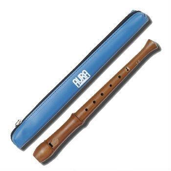 Aura Cacia Aura recorder baroque setting unlacquered - GR 4 narrow blue case