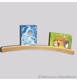 Mercurius Wooden cardholder curved large 50cm