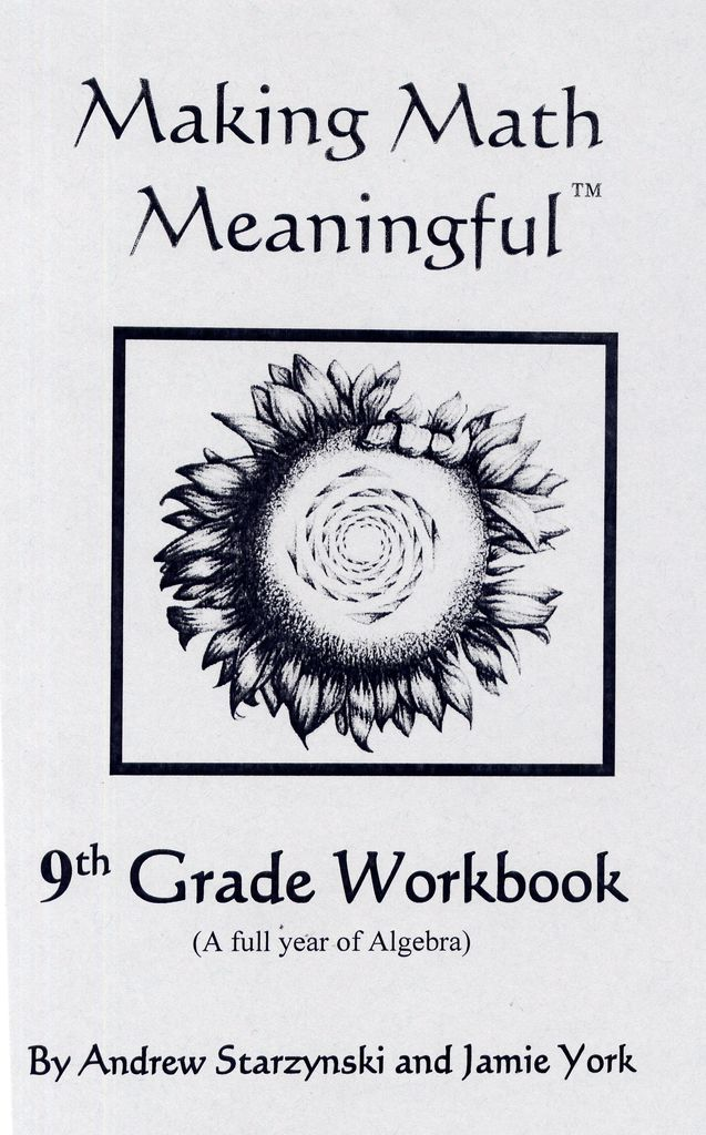 Jamie York Press Making Math Meaningful: A 9th Grade Student's Workbook