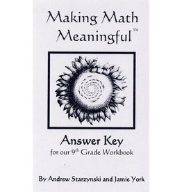 Jamie York Press Making Math Meaningful: A 9th Grade Workbook - Answer Key