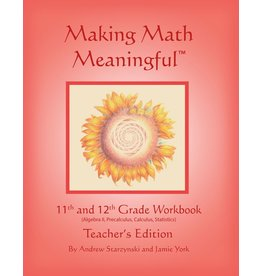 Jamie York Press Making Math Meaningful: An 11-12th Grade Workbook Teacher's Edition