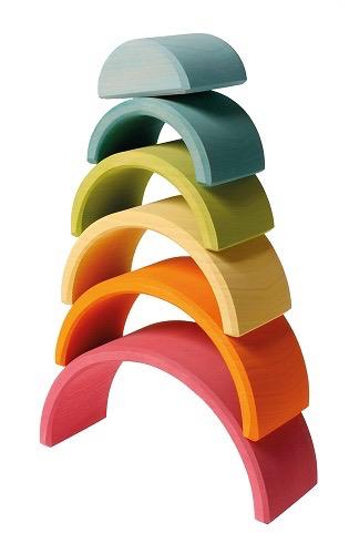 Grimm's Medium Rainbow, Multi-Coloured Pastel 6 Pcs.