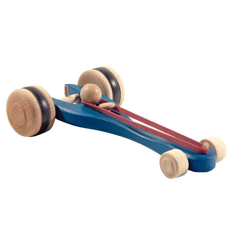 Ostheimer Car Blue Rubber-Band Driven