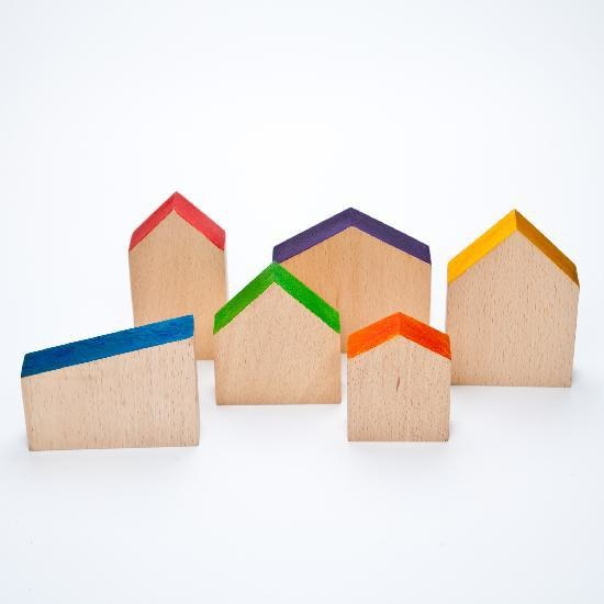 Grapat Wood Coloured Houses