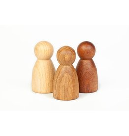 Grapat Wood Nins 3 Different Woods 3 pcs (Beech, Oak and Sapeli)