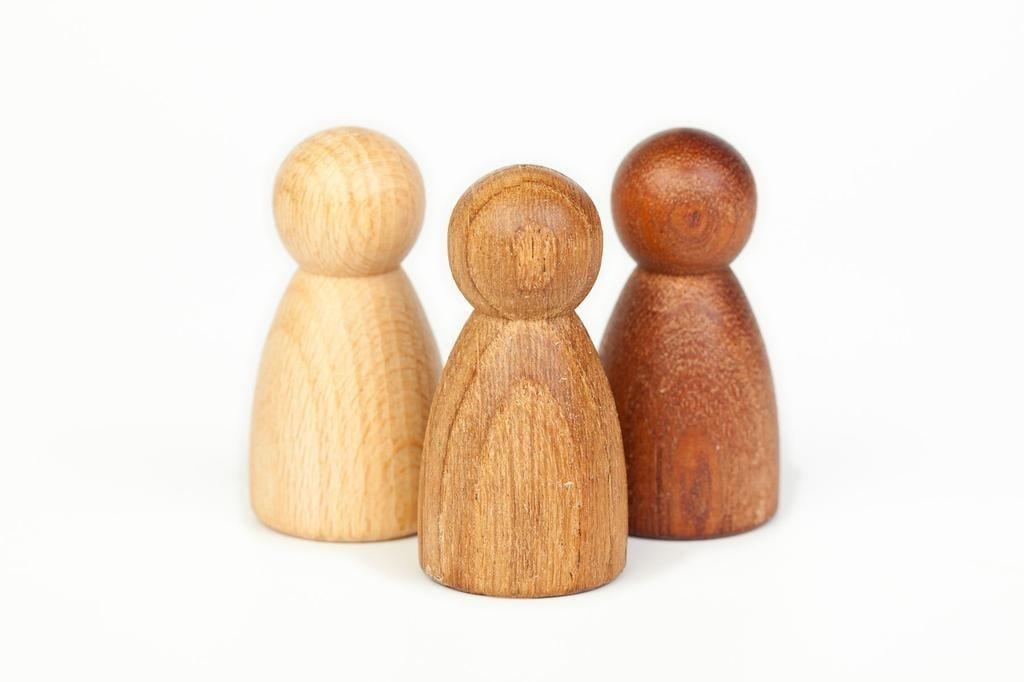 Grapat Wood Nins 3 Different Woods 3 pcs (Beech, Oak and Sapeli)