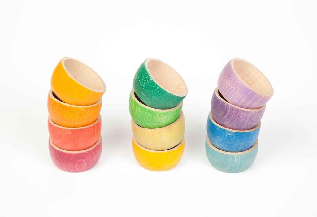Grapat Wood Coloured Bowls x 12