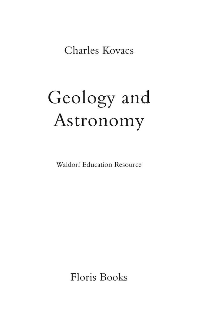 Floris Books Geology and Astronomy