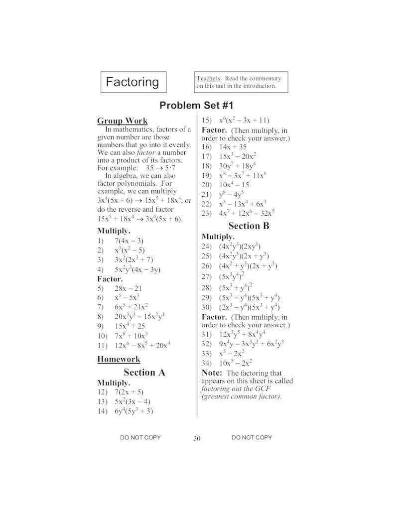 Jamie York Press Making Math Meaningful: A 9th Grade Workbook Teacher's Edition
