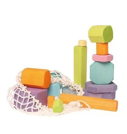 Grimm's Building blocks chunky pastel tree slices 16 pcs