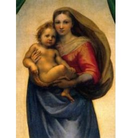 Wynstones Press Poster, The Sistine Madonna 49 x 34 cm
