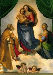 Wynstones Press Poster, The Sistine Madonna 49 x 34 cm