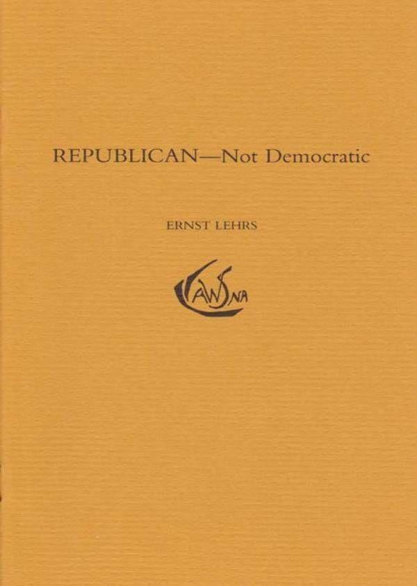 Waldorf Publications Republican: Not Democratic
