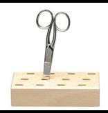Mercurius Scissors holder wood 12 holes