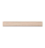 Mercurius Wooden ruler 30cm / 12 inch from FSC