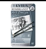 Lyra Lyra Art Design drawing pencils ass. 12 pcs 6B..4H