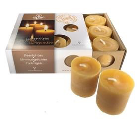 Dipam Dipam Beeswax Votive candles - SF9- 1 box, 9 pcs