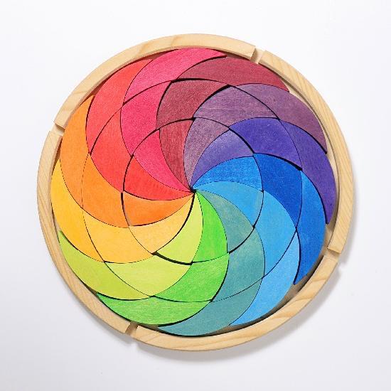 Grimm's Building Set Colourwheel Rainbow  36 pcs