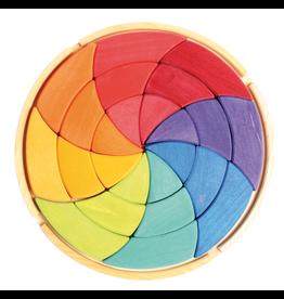 Grimm's Large Mandala Puzzle Goethe's Colour Circle 24 Pcs.