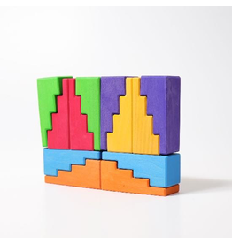 Grimm's Stepped Roofs Rainbow (12pcs)