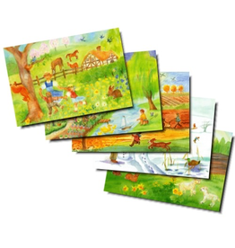 Wynstones Press Postcard set of 5 Through the Seasons by Dorothea Schmidt