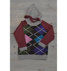 Wooly Way Woolens Child Hoodie - Upcycled Wool 4-5 years