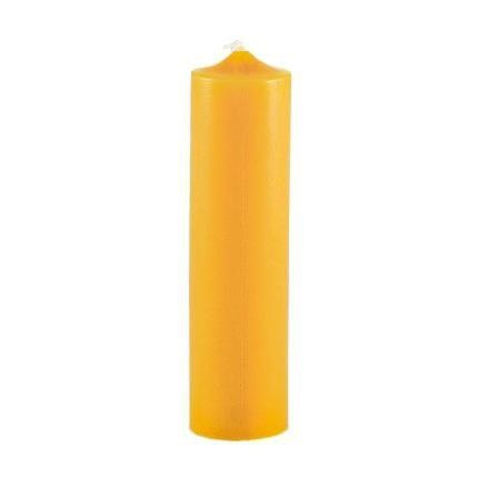 Honey Candles 6 Inch Natural Column Beeswax Candle