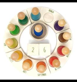 Grapat Wood Perpetual Calendar (French)