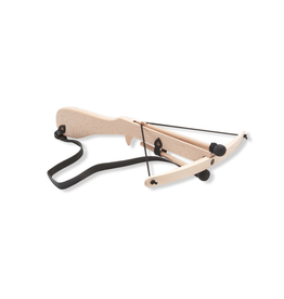 Fantashion Crossbow with leather strap & 2 arrows, small