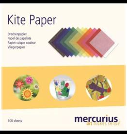 Mercurius Kite Paper 16x16cm assorted colours with instruction