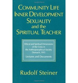 Steiner Books Community Life Inner Development Sexuality And The Spiritual Teacher