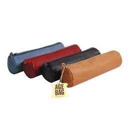 Lamarche Round leather pencil case