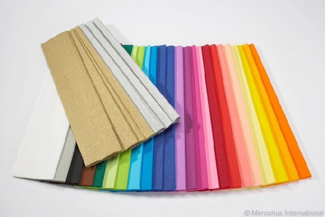 Mercurius Crepe paper gold - per sheet
