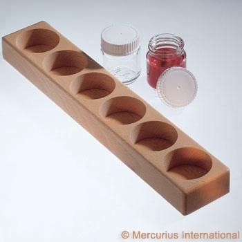 Mercurius Paint jar wooden holder 6 holes -100ml