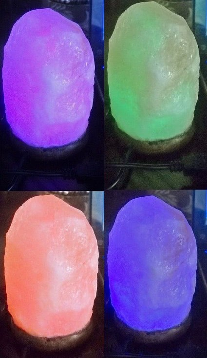 Gamma Salt Crystals Hand carved Sphere Salt Lamp with USB cord for computers or night lite. Diameter 3.5 weight 1.5 - 2 lbs