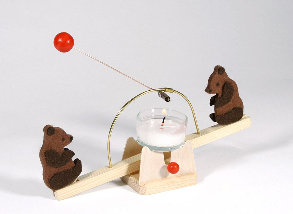 Kraul Candle See-Saw kit with bears