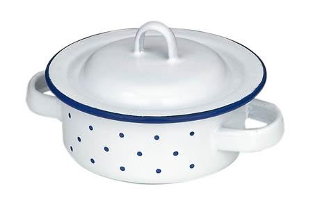 Gluckskafer Enamel Pot low 10cm