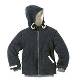 Disana Disana Child Jacket with Hood, Boiled Wool