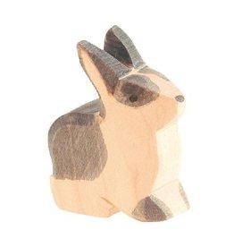 Ostheimer Rabbit b&w sitting