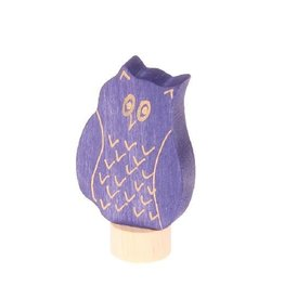 Grimm's Deco Eagle Owl, blue